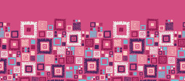 Colorful geometric squares horizontal seamless Stock Photos