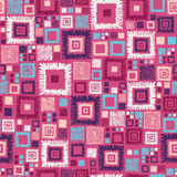 Colorful geometric squares seamless pattern Royalty Free Stock Photo