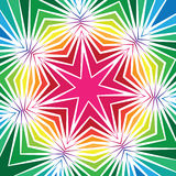 Colorful Geometric Star Design Stock Photography