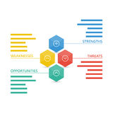 Colorful geometric swot business diagram chart Stock Photography