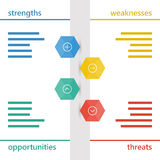 Colorful geometric swot business diagram chart Royalty Free Stock Photo