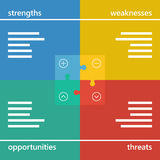 Colorful geometric swot business diagram chart Stock Image