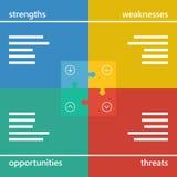 Colorful geometric swot business diagram chart Stock Image