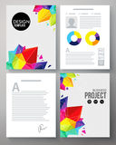 Colorful geometric template for a company project. Colorful geometric template in the vivid colors of the rainbow for a project with crystals or points and Stock Image