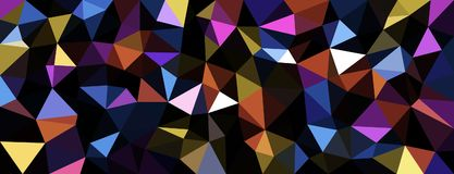 Colorful geometric texture abstract banner. Stock Photos