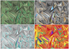 Colorful Geometric Triangle Background Stock Photos