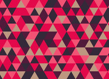 Colorful geometric triangle seamless pattern. Abstract vector ba. Ckground stock illustration