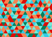 Colorful geometric triangle seamless pattern. Abstract vector ba. Ckground Royalty Free Stock Photo