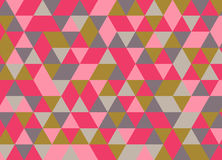 Colorful geometric triangle seamless pattern. Abstract vector. Background Stock Photography