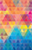Colorful geometric triangles pattern jpeg. Royalty Free Stock Image