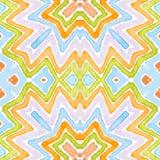 Colorful Geometric Watercolor. Dazzling Seamless P. Attern. Hand Drawn Stripes. Brush Texture. Energetic Chevron Ornament. Fabric Cloth Swimwear Design Wallpaper vector illustration