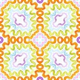 Colorful Geometric Watercolor. Dazzling Seamless Pattern. Hand Drawn Stripes. Brush Texture. Emotion. Al Chevron Ornament. Fabric Cloth Swimwear Design Wallpaper royalty free illustration