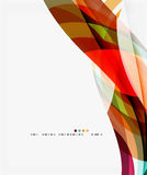 Colorful Geometric Wave Abstract Background Royalty Free Stock Photography