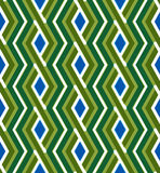 Colorful geometric zigzag seamless pattern, symmetric endless ve Royalty Free Stock Images