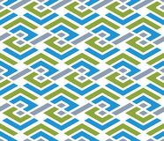 Colorful geometric zigzag seamless pattern, symmetric endless ve. Ctor background. Abstract concept covering with parallel lines Stock Images