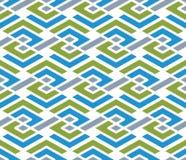 Colorful geometric zigzag seamless pattern, symmetric endless ve Stock Images