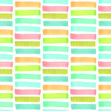 Colorful geometrical abstract seamless pattern. Marker striped seamless pattern vector Stock Photos