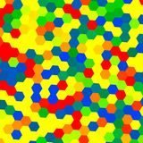 Colorful Geometrical Background - Hexagons Stock Image