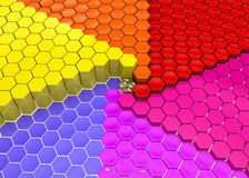Colorful geometrical background Stock Photo