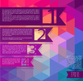 Colorful geometrical background with stickers and place for text. Vector illustration Stock Image