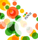 Colorful geometrical circles background Stock Photos