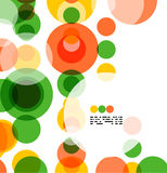Colorful geometrical circles background Stock Photo