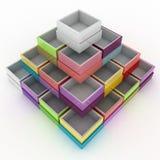 Colorful geometrical figure Stock Image