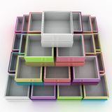 Colorful geometrical figure Royalty Free Stock Photography