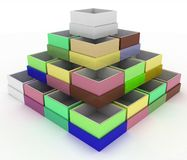 Colorful geometrical figure Stock Images
