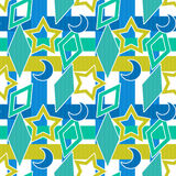 Colorful geometrical kids background seamless pattern Royalty Free Stock Images