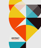 Colorful geometrical modern art minimal template Stock Photography
