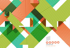 Colorful geometrical shapes abstract lines Royalty Free Stock Photography