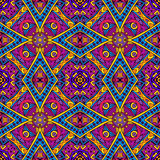 Colorful geomtric ethnic seamless pattern ornament. Vector Tribal Mexican vintage ethnic seamless pattern. colorful grunge  tribal design Stock Image