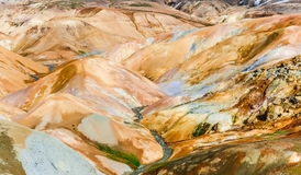 Colorful geothermal hot spring field hills in Kerlingafjoll, Ice Stock Photos