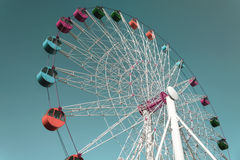 Colorful Giant ferris wheel against sky Royalty Free Stock Photo
