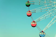 Colorful Giant ferris wheel, vintage Royalty Free Stock Images