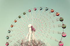 Colorful Giant ferris wheel Stock Photo