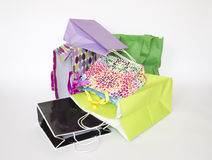 Colorful gift bags. On white background Stock Photo