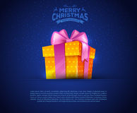 Colorful gift box with bows Royalty Free Stock Photography