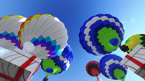 Colorful Gift box in the sky Stock Photography