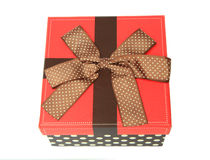 Colorful gift box on a white background Royalty Free Stock Photos
