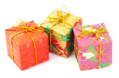 Colorful gift box. On white background Royalty Free Stock Image