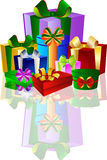 Colorful Gift Boxes Stock Images