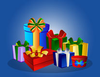 Colorful gift boxes vector illustration
