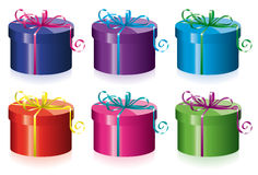 Colorful gift boxes Royalty Free Stock Photo