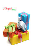 Colorful Gift Boxes Stock Image