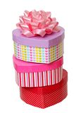 Colorful gift boxes Royalty Free Stock Photography