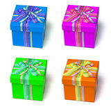 Colorful gift boxes Royalty Free Stock Image