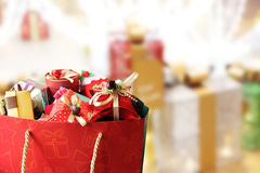 Colorful gift boxes. Stock Photos