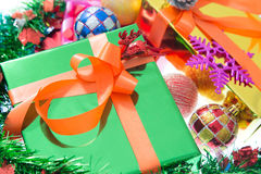 Colorful gift boxes Beautiful. Isolated white background. Stock Photography